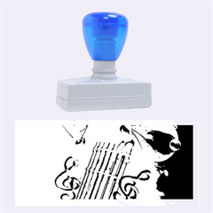Music, Pan Flute With Fairy Rubber Stamps (large)