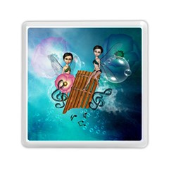 Music, Pan Flute With Fairy Memory Card Reader (Square)
