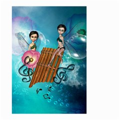 Music, Pan Flute With Fairy Small Garden Flag (two Sides)