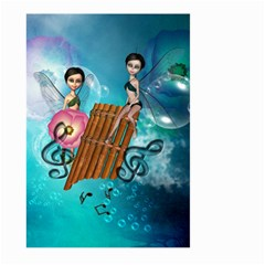 Music, Pan Flute With Fairy Large Garden Flag (two Sides)