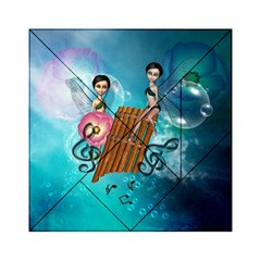 Music, Pan Flute With Fairy Acrylic Tangram Puzzle (6  x 6 )