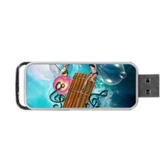 Music, Pan Flute With Fairy Portable USB Flash (One Side)