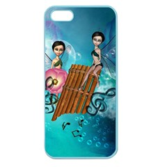 Music, Pan Flute With Fairy Apple Seamless iPhone 5 Case (Color)
