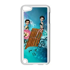 Music, Pan Flute With Fairy Apple iPod Touch 5 Case (White)
