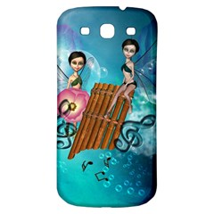 Music, Pan Flute With Fairy Samsung Galaxy S3 S III Classic Hardshell Back Case