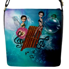 Music, Pan Flute With Fairy Flap Messenger Bag (S)