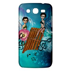 Music, Pan Flute With Fairy Samsung Galaxy Mega 5.8 I9152 Hardshell Case