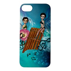Music, Pan Flute With Fairy Apple iPhone 5S Hardshell Case