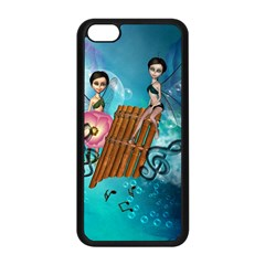 Music, Pan Flute With Fairy Apple iPhone 5C Seamless Case (Black)