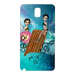 Music, Pan Flute With Fairy Samsung Galaxy Note 3 N9005 Hardshell Back Case