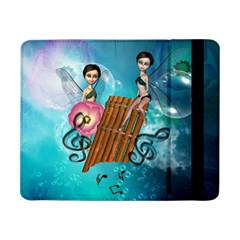 Music, Pan Flute With Fairy Samsung Galaxy Tab Pro 8.4  Flip Case