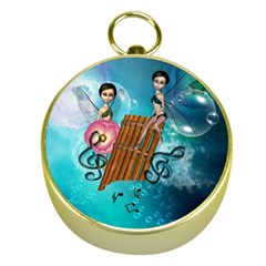 Music, Pan Flute With Fairy Gold Compasses