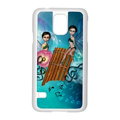 Music, Pan Flute With Fairy Samsung Galaxy S5 Case (white)