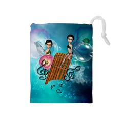 Music, Pan Flute With Fairy Drawstring Pouches (Medium)