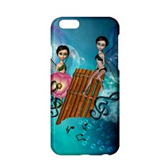 Music, Pan Flute With Fairy Apple iPhone 6/6S Hardshell Case