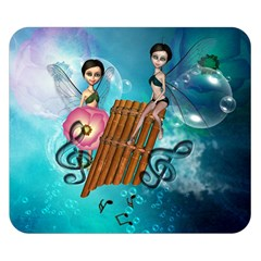 Music, Pan Flute With Fairy Double Sided Flano Blanket (Small)