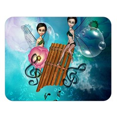 Music, Pan Flute With Fairy Double Sided Flano Blanket (large)