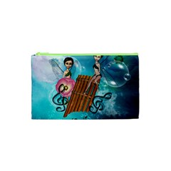 Music, Pan Flute With Fairy Cosmetic Bag (XS)