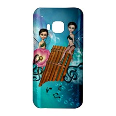 Music, Pan Flute With Fairy HTC One M9 Hardshell Case