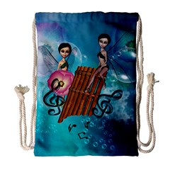 Music, Pan Flute With Fairy Drawstring Bag (large)