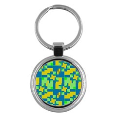Shapes in shapes Key Chain (Round)