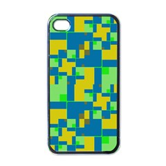 Shapes in shapes Apple iPhone 4 Case (Black)