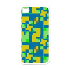 Shapes in shapes Apple iPhone 4 Case (White)