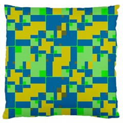 Shapes in shapes Large Cushion Case (Two Sides)