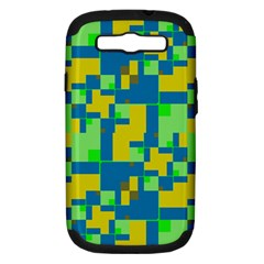 Shapes in shapes Samsung Galaxy S III Hardshell Case (PC+Silicone)