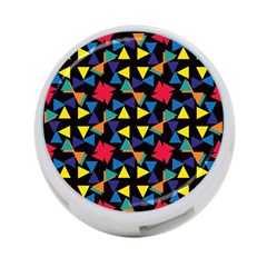 Colorful triangles and flowers pattern 4-Port USB Hub (Two Sides)