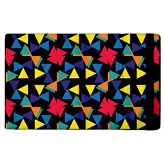 Colorful triangles and flowers pattern Apple iPad 2 Flip Case