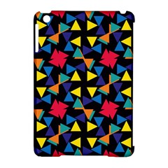 Colorful triangles and flowers pattern Apple iPad Mini Hardshell Case (Compatible with Smart Cover)