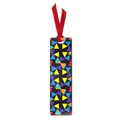 Colorful triangles and flowers pattern Small Book Mark