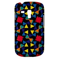Colorful triangles and flowers pattern Samsung Galaxy S3 MINI I8190 Hardshell Case