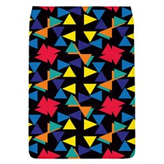 Colorful triangles and flowers pattern Removable Flap Cover (S)