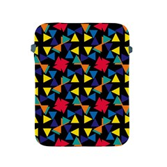 Colorful triangles and flowers pattern Apple iPad 2/3/4 Protective Soft Case
