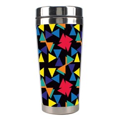 Colorful triangles and flowers pattern Stainless Steel Travel Tumbler