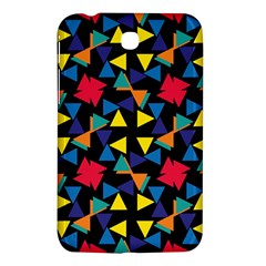 Colorful triangles and flowers pattern Samsung Galaxy Tab 3 (7 ) P3200 Hardshell Case