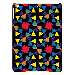Colorful triangles and flowers pattern Apple iPad Air Hardshell Case