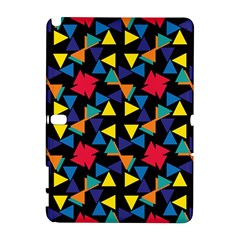 Colorful triangles and flowers pattern Samsung Galaxy Note 10.1 (P600) Hardshell Case
