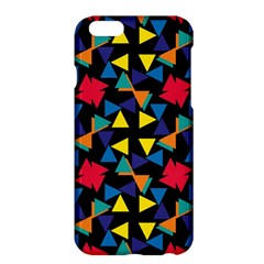 Colorful triangles and flowers patternApple iPhone 6 Plus Hardshell Case