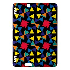 Colorful triangles and flowers pattern	Kindle Fire HDX Hardshell Case