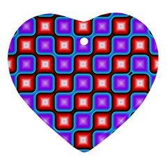 Connected squares pattern Ornament (Heart)