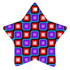 Connected squares pattern Ornament (Star)