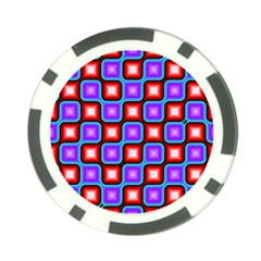 Connected squares pattern Poker Chip Card Guard (10 pack)