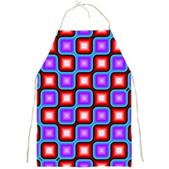 Connected Squares Pattern Full Print Apron