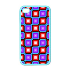 Connected squares pattern Apple iPhone 4 Case (Color)