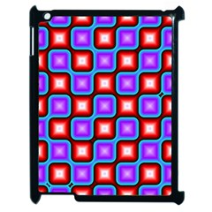 Connected squares pattern Apple iPad 2 Case (Black)