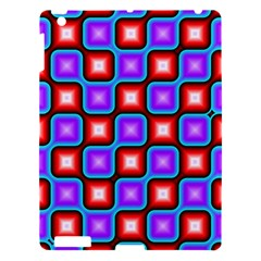 Connected squares pattern Apple iPad 3/4 Hardshell Case