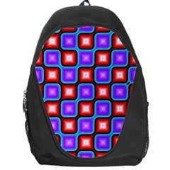 Connected squares pattern Backpack Bag